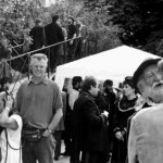 Director Geoff Bowie on the set of La Commune in Paris, 2001.